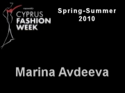 Marina Avdeeva - Cyprus Fashion Week 2009